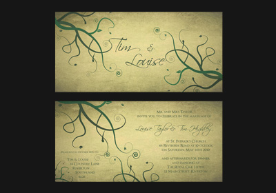 Part of our Vines wedding stationery range